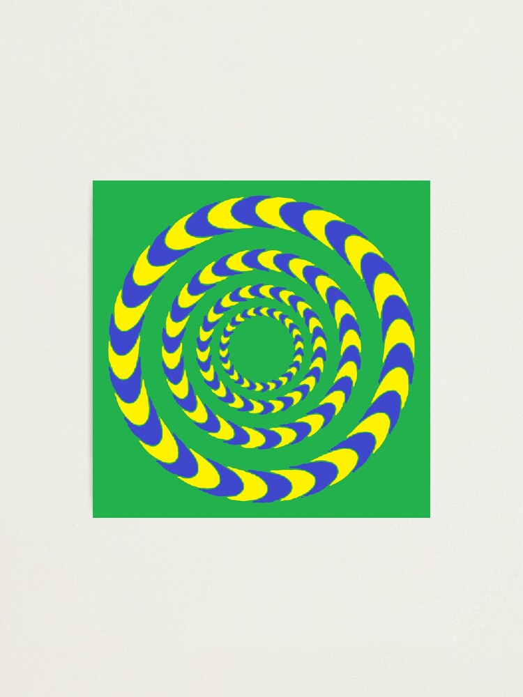 Alternate view of #Illusions gif, #abstract, #design, #pattern, art, illustration, twirl, hypnosis, twist, target, spiral Photographic Print