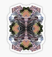 bike kaleidoscope in the open tee Sticker