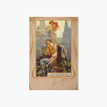Das Rheingold Mermaid Art Board Print