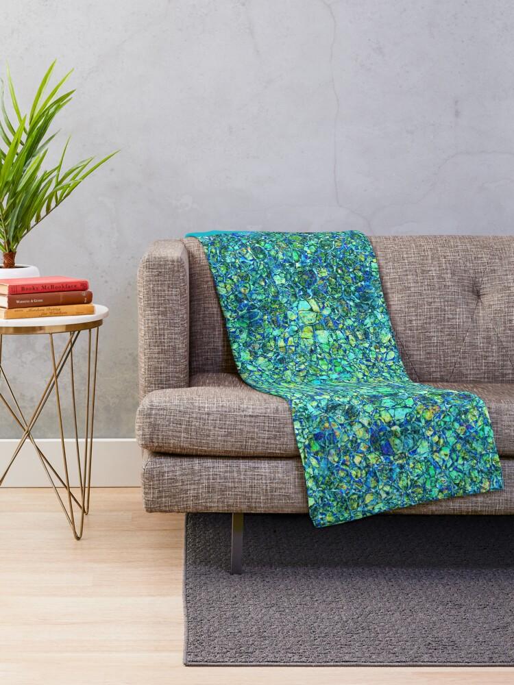 Alternate view of Pebbles #5 Throw Blanket