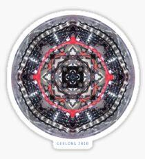 bike kaleidoscope in the round tee Sticker