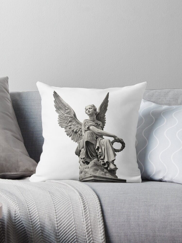 Nijmegen Holland Angel Statue Throw Pillow By Observation Redbubble