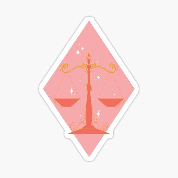 Libra Scales - PINK Sticker