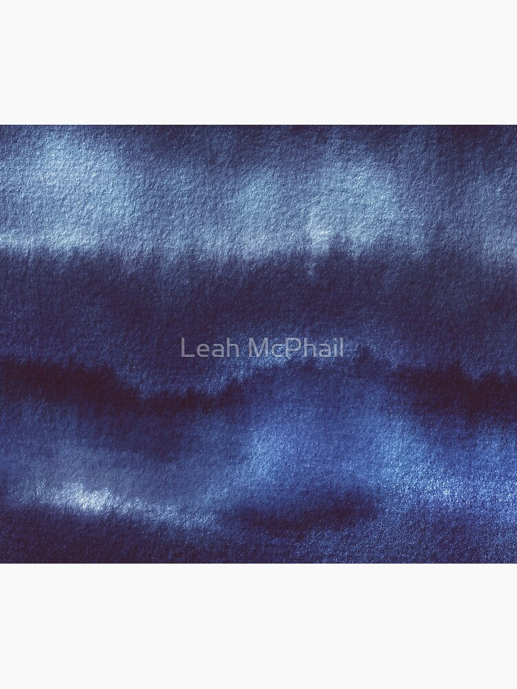 Indigo Watercolor Abstract  by LeahMcPhail