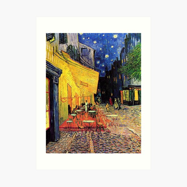 The Cafe Terrace on the Place du Forum, Arles, at Night,  Vincent van Gogh Art Print