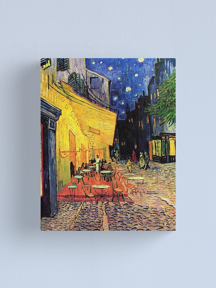 Alternate view of The Cafe Terrace on the Place du Forum, Arles, at Night,  Vincent van Gogh Canvas Print