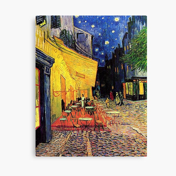 The Cafe Terrace on the Place du Forum, Arles, at Night,  Vincent van Gogh Canvas Print