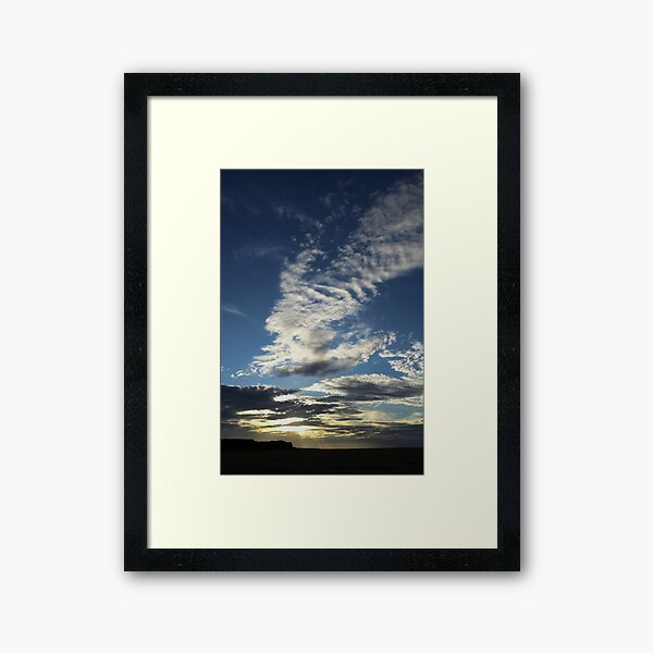 Sunset, North Norfolk Framed Art Print