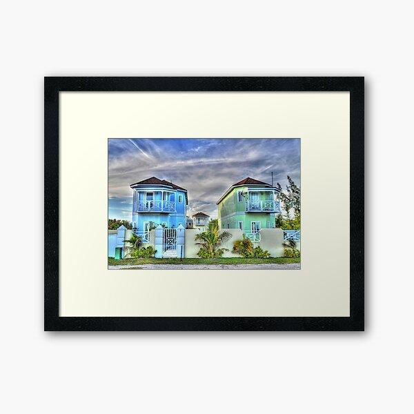 Ocean Front Houses on Eastern Road at Yamacraw Beach - Nassau, The Bahamas Framed Art Print