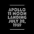 Apollo 11 Moon Landing July 20, 1969 by joehx