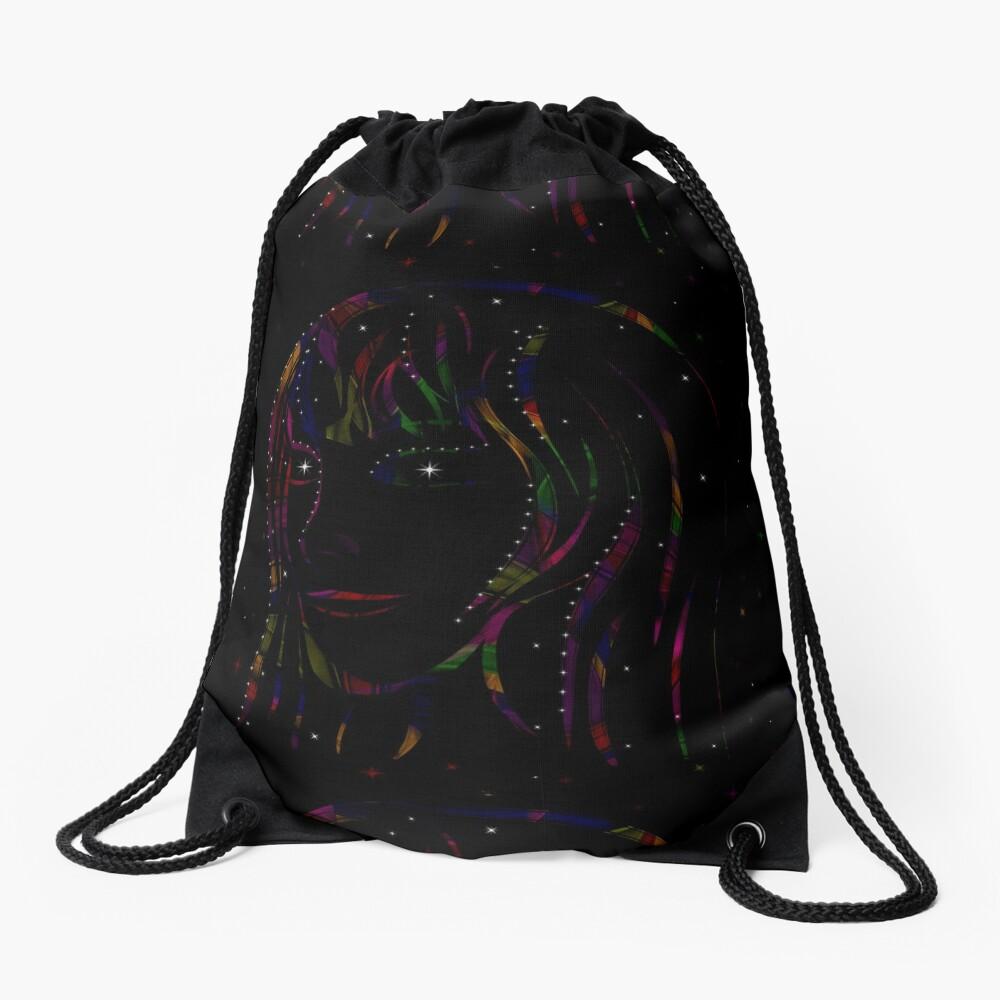 Maid of Stars and Rainbows Drawstring Bag