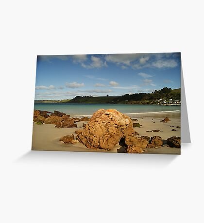 Boat Harbour Boulders Greeting Card