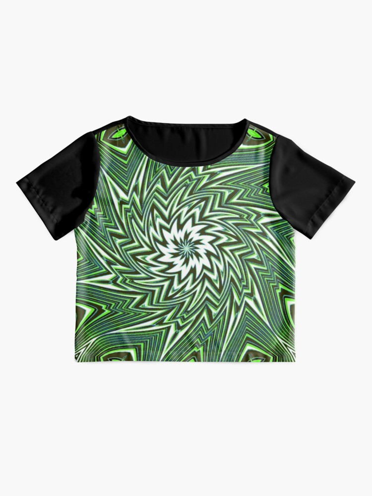 Alternate view of #Art, #pattern, #abstract, #decoration, design, creativity, color image, geometric shape Chiffon Top