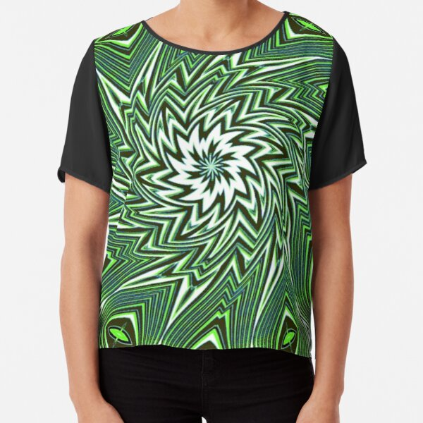 #Art, #pattern, #abstract, #decoration, design, creativity, color image, geometric shape Chiffon Top