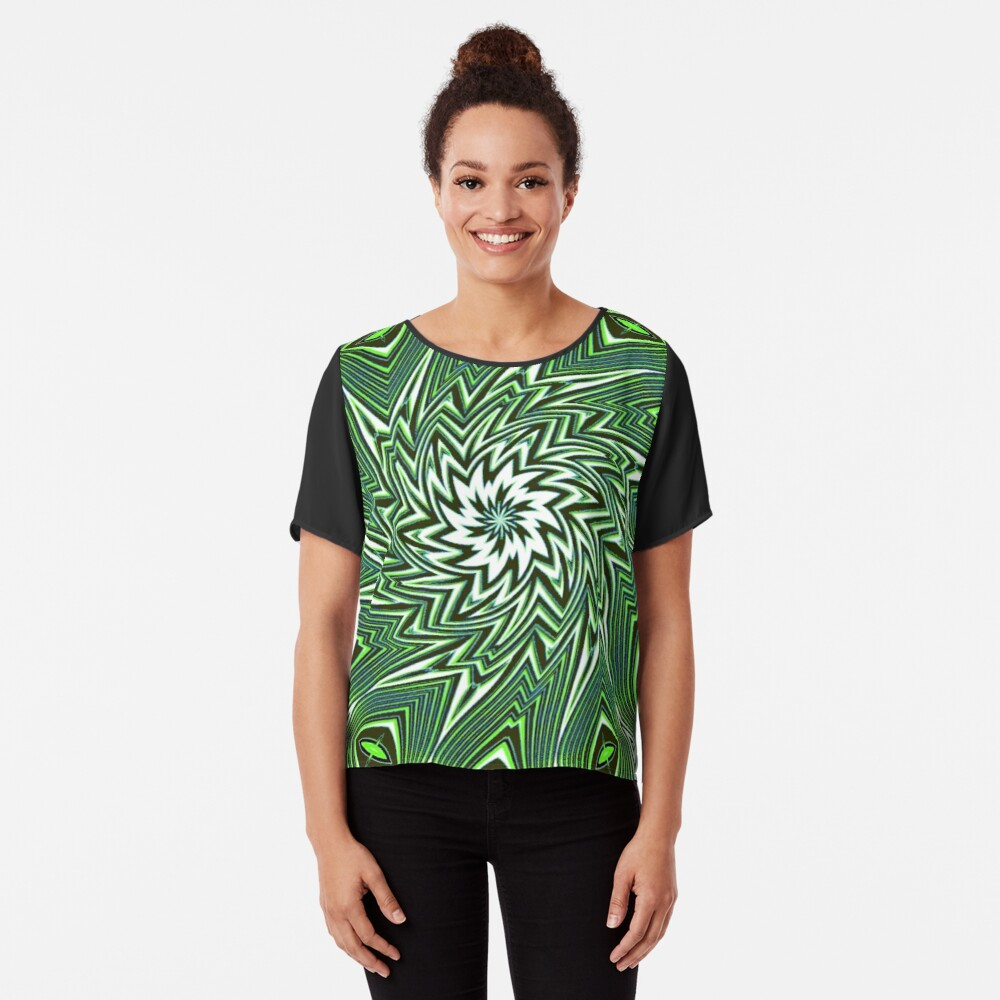 #Art, #pattern, #abstract, #decoration, design, creativity, color image, geometric shape Chiffon Top