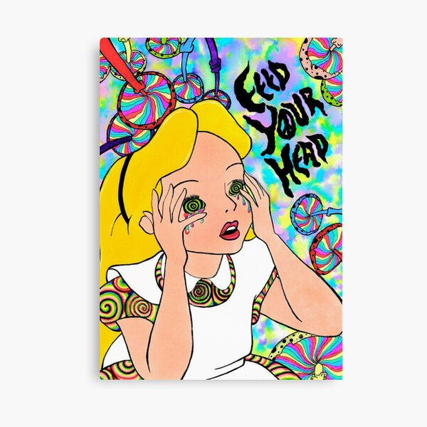 Trippy Alice In Wonderland Canvas Print