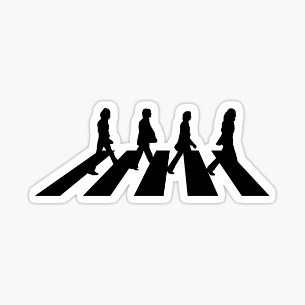 Minimalistic Abbey Road Sticker