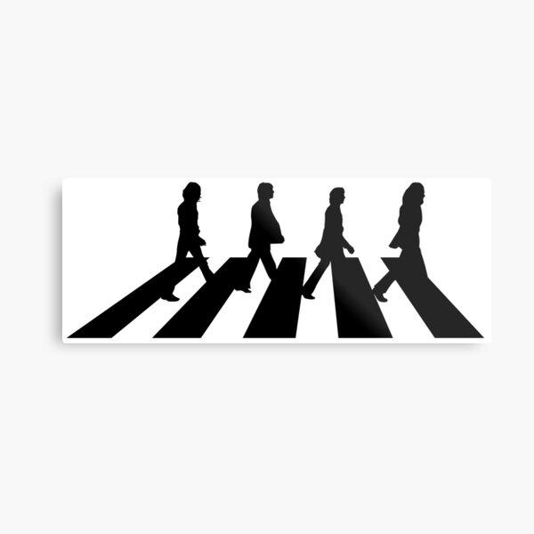 Minimalistic Abbey Road Metal Print