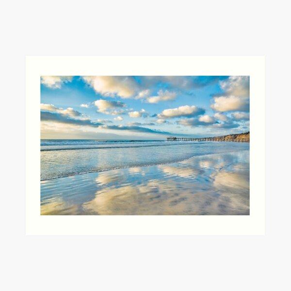 Passing clouds over La Jolla Shores, California Art Print