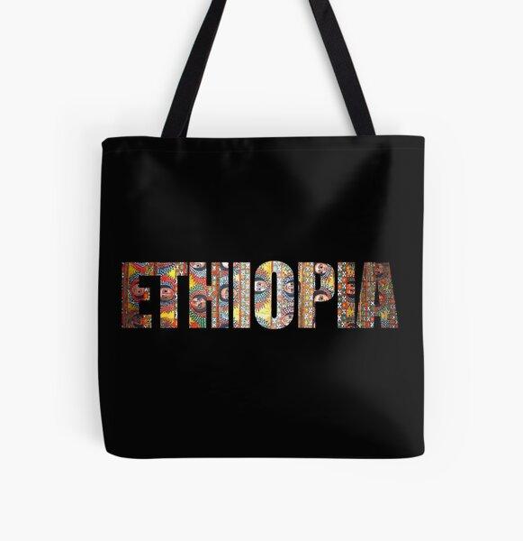 ETHIOPIA Habesha Angels Design All Over Print Tote Bag
