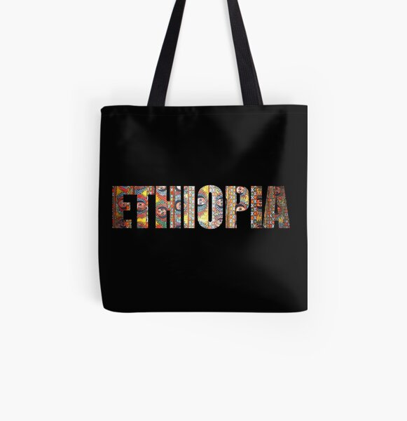 ETHIOPIA Habesha Angels Design All Over Print Tote Bag