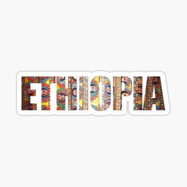 ETHIOPIA Habesha Angels Design Sticker