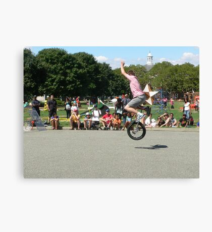 Unicycle Jumper Canvas Print