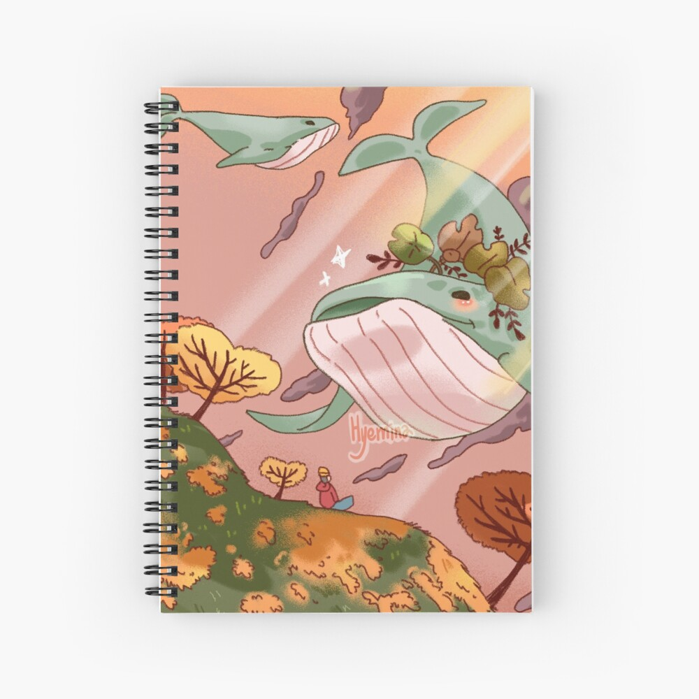 Giant Whales Spiral Notebook