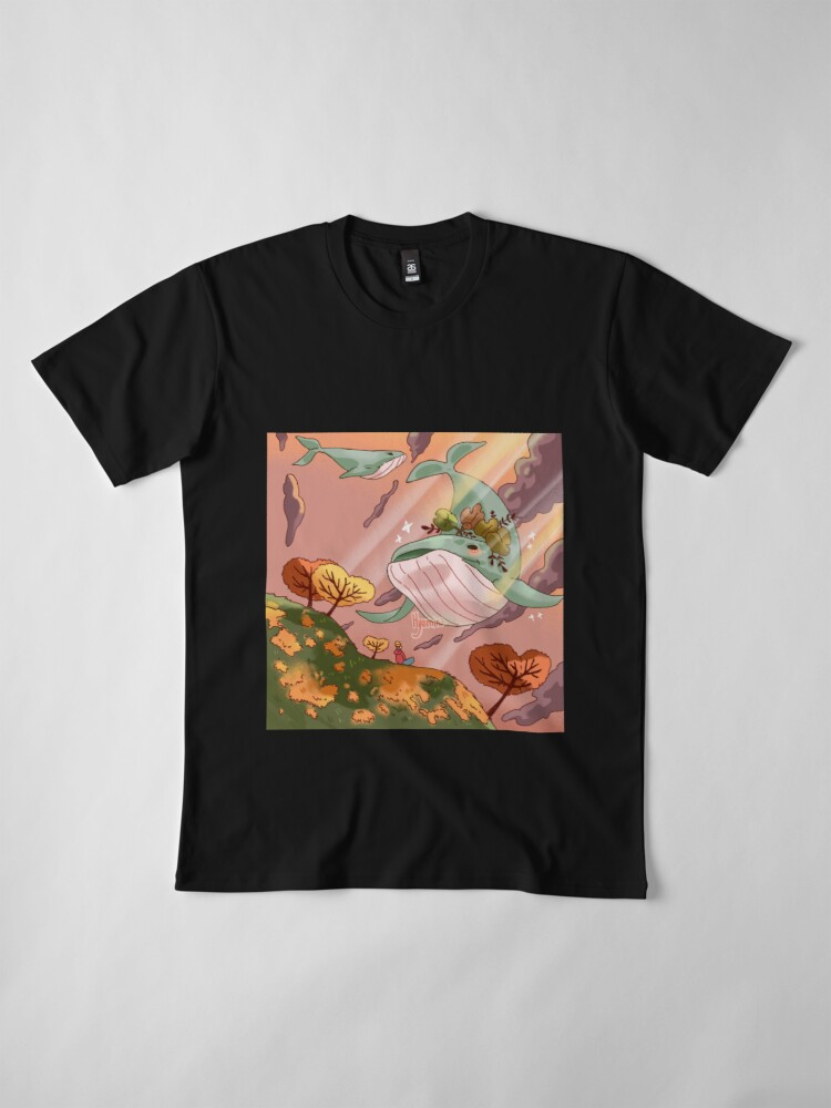 Alternate view of Giant Whales Premium T-Shirt