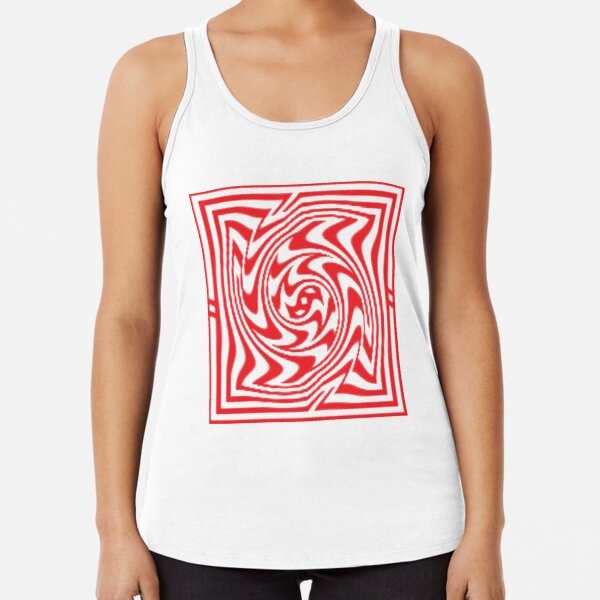 3d Depth Wallpaper Image Racerback Tank Top