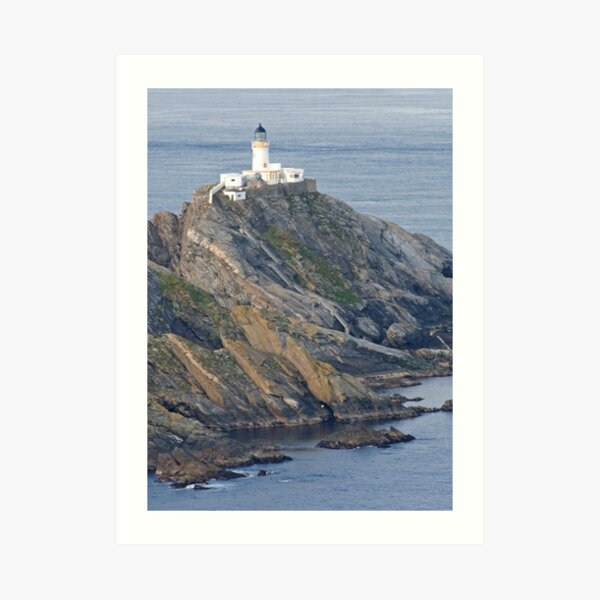 Muckle Flugga lighthouse Art Print