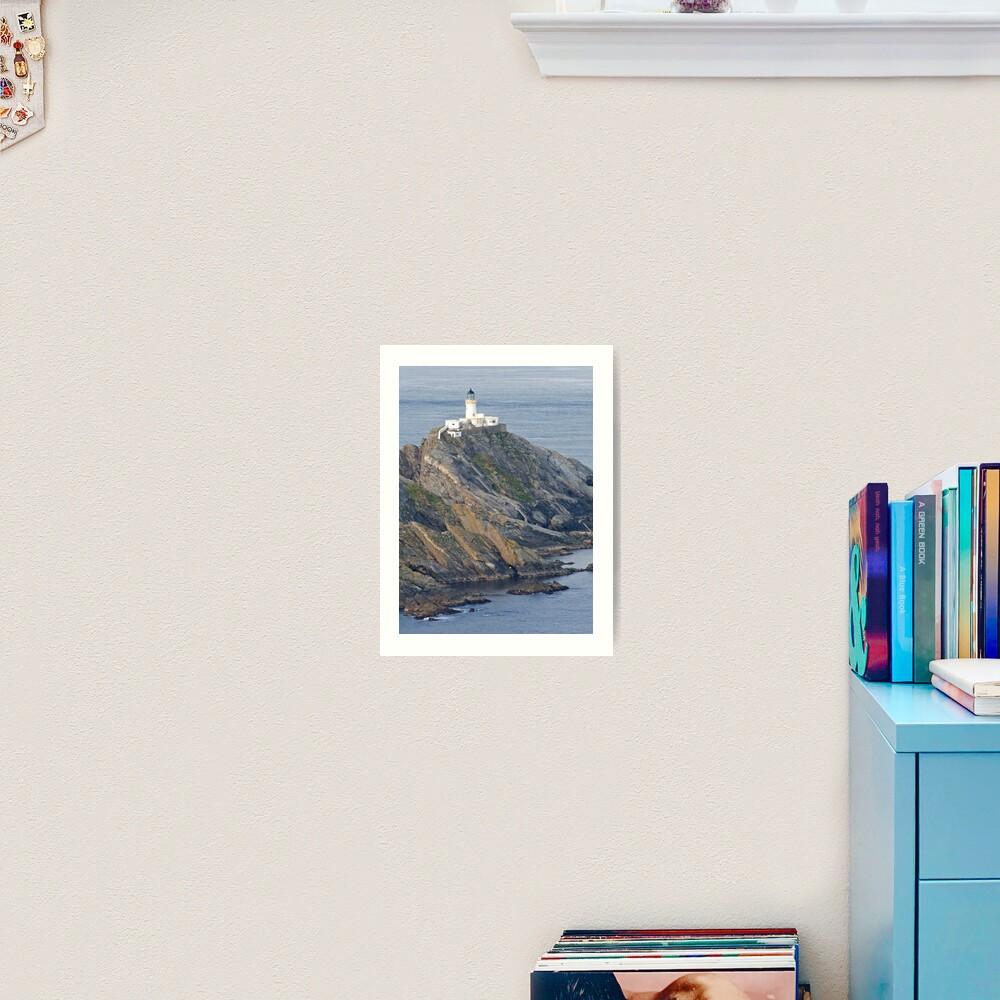 Muckle Flugga lighthouse Art Print