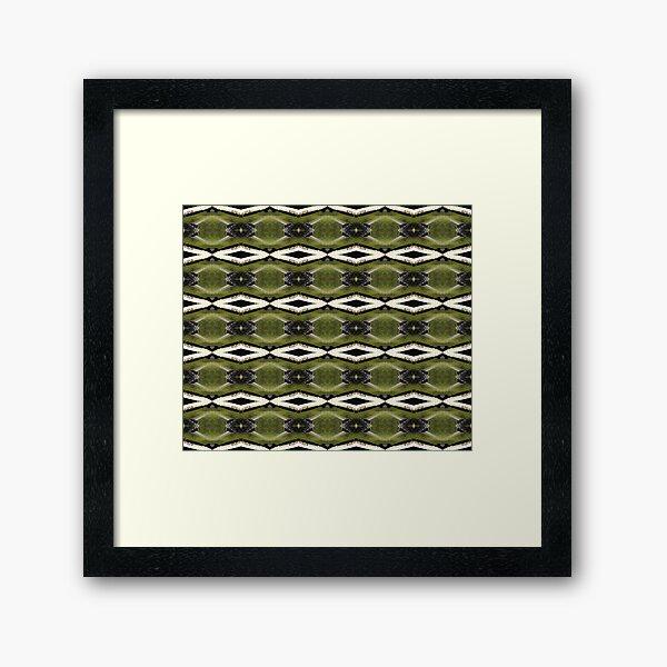 find the frogs, Trojan pond, near Goble, Oregon pattern Framed Art Print