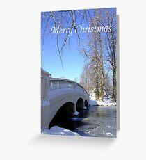 Winter Bridge - Christmas Card Greeting Card