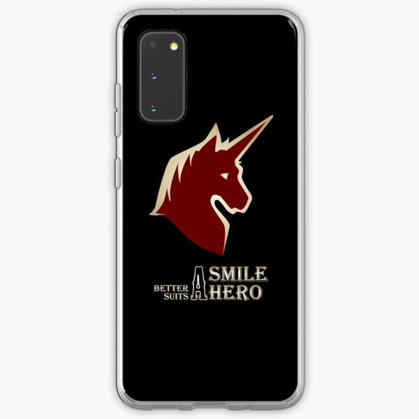 A Smile Better Suits A Hero Samsung Galaxy Soft Case