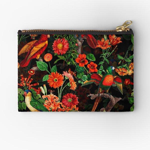 Pierre Joseph Redoute tropical vintage fleurs et perroquets nostalgique transparente motif mystique Pochette