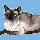 Siamese cat by savousepate