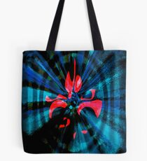 Abstract of Red and Blue Tote Bag