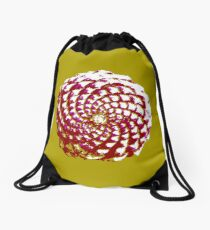 pine cone in olive green, purple and burgandy Drawstring Bag