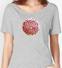 pine cone in olive green, purple and burgandy Relaxed Fit T-Shirt
