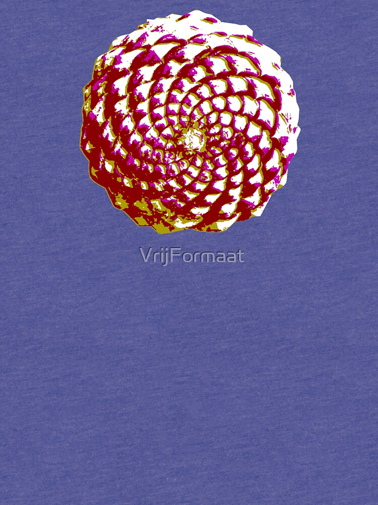 pine cone in olive green, purple and burgandy by VrijFormaat