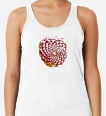 pine cone in olive green, purple and burgandy Racerback Tank Top