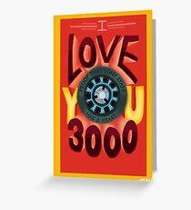 Ich liebe dich 3000 Grußkarte