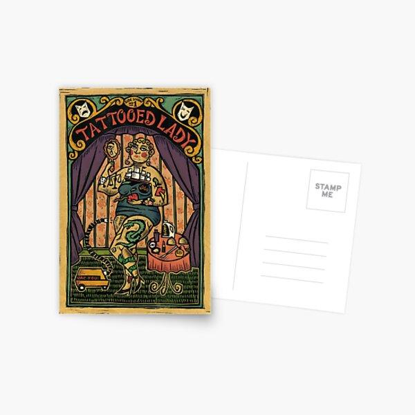 Tattooed Lady Postcard