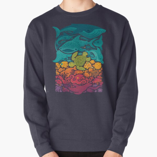 Aquatic Spectrum Pullover Sweatshirt
