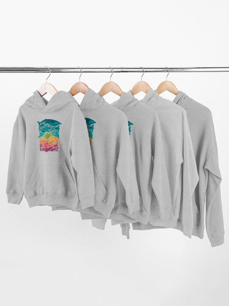 Alternate view of Aquatic Spectrum Kids Pullover Hoodie