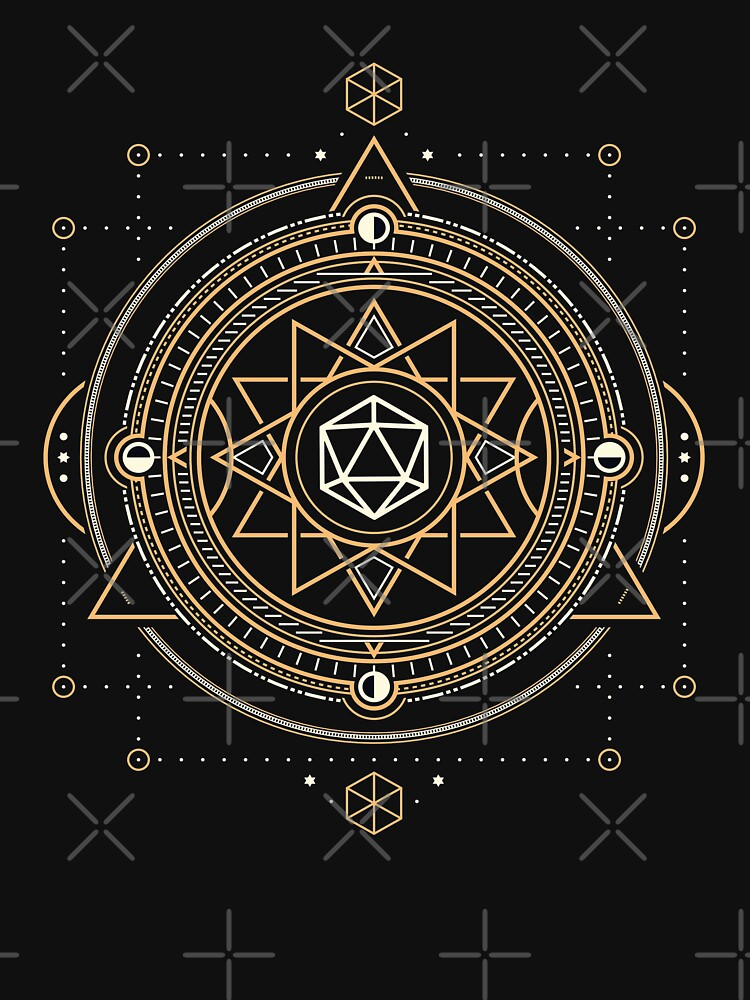 Polyhedral D20 Dice Sacred Symbol of the Occultist by pixeptional