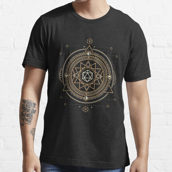 Polyhedral D20 Dice Sacred Symbol of the Occultist Essential T-Shirt
