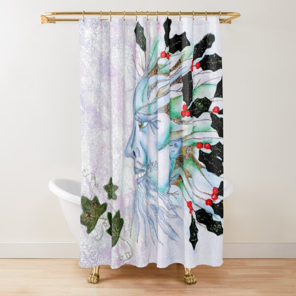 Holly King Shower Curtain