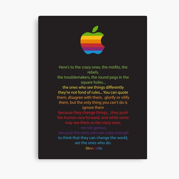 Stay Hungry Stay Foolish Steve Jobs Apple Typography Wall Art Poster UNFRAMED